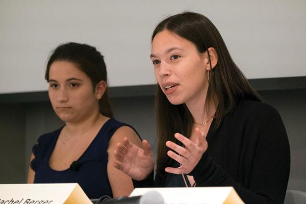Gina Vellequiette (left) and Rachel Berger