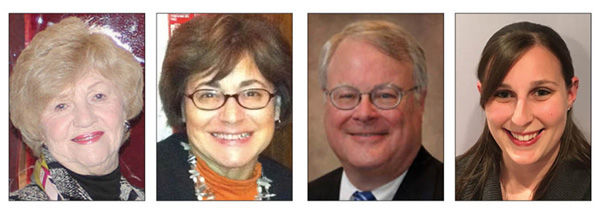 From left: Gloria Feldman, Marcy and Rick Cornfeld, and Erica Morris will be recognized at the March 19 JSU gala.