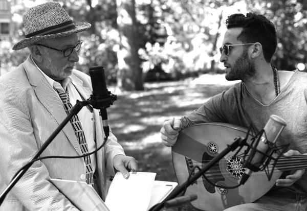 Rabbi James Stone Goodman (left) and Rabbi Zach Fredman partnered to record musical videos for each portion of the Torah.