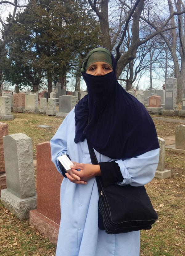 Muslim+American+Rashidah+Rafat+came+to+help+with+the+cleanup.+The+only+way+mankind+can+move+forward+is+through+peace%2C+harmony+and+love%2C+she+said.%C2%A0+Photo%3A+Ellen+Futterman