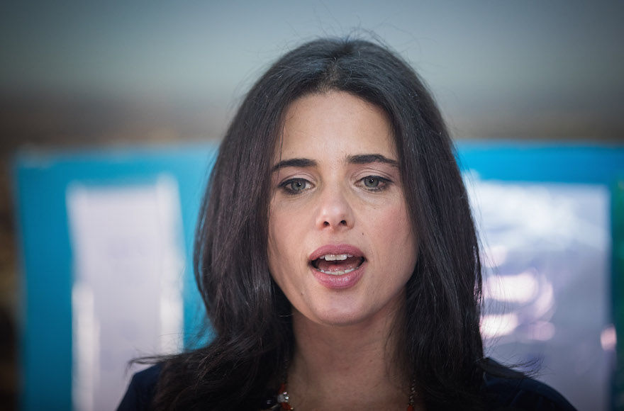 Israeli+Justice+Minister+Ayelet+Shaked+casting+her+vote+in+preliminary+parliamentary+elections+in+Jerusalem%2C+April+27%2C+2017.+%28Yonatan+Sindel%2FFlash90%29