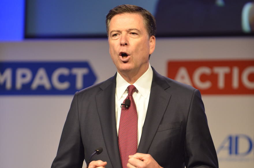 FBI+director+James+Comey+addressing+the+Anti-Defamation+League+in+Washington%2C+D.C.%2C+May+8%2C+2017.+%28Carl+Cox%2FADL%29
