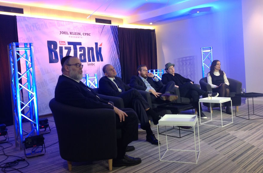 BizTank%2C+a+haredi+Orthodox+version+of+%E2%80%9CShark+Tank%2C%E2%80%9D+brings+together+a+panel+of+mostly+Orthodox+Jewish+investors+to+hear+pitches+from+entrepreneurs.+%28Ben+Sales%29