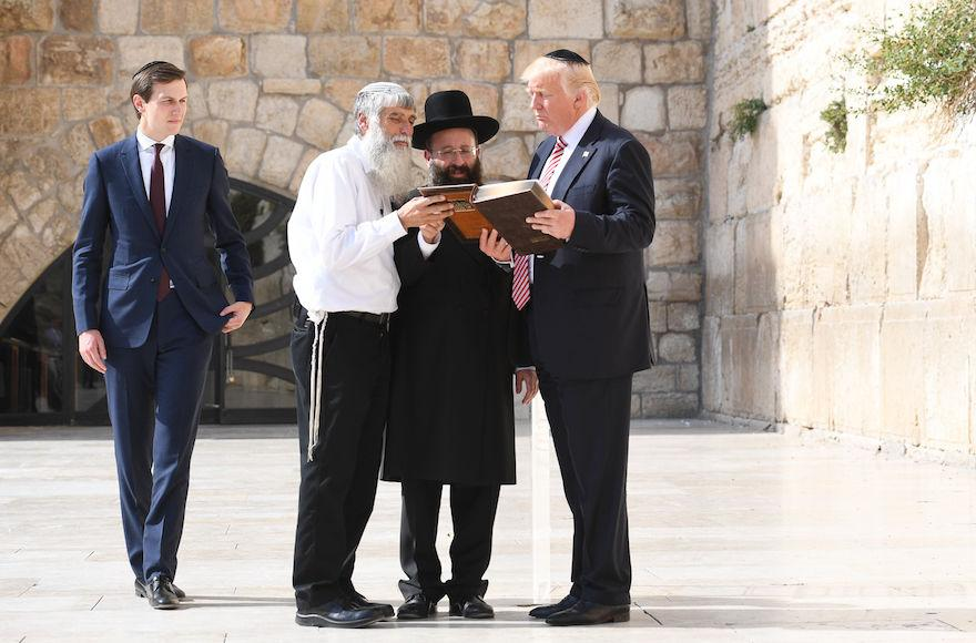 President+Donald+Trump+and+Jared+Kushner%2C+left%2C+at+the+Western+Wall+in+Jerusalem%2C+May+22%2C+2017.+Photo%3A+Israel+Bardugo