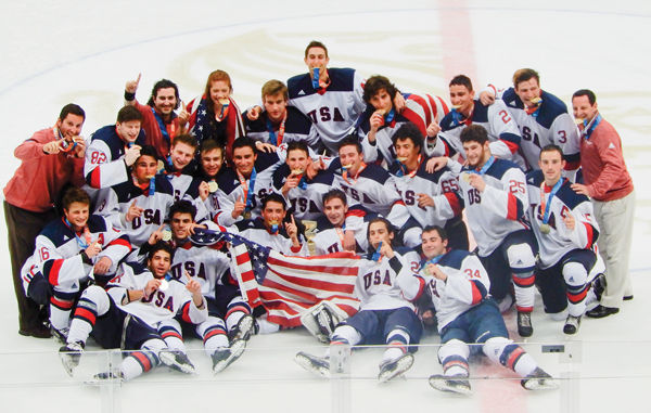 Members of the junior division USA hockey team took home the gold medal at the Maccabiah Games in Israel, which ended last week.