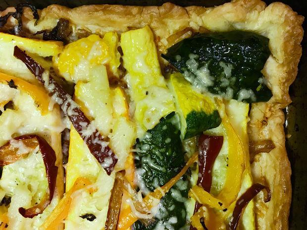 Margi Lenga Kahn's Summer Vegetable Tart. Photo: Michael Kahn
