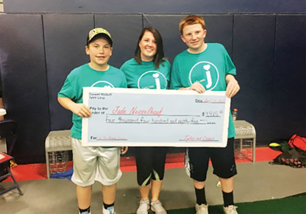 For their mitzvah projects, Tyler Lang (left) and Cooper Walkoff (right), who have been longtime friends, hosted a dodge ball tournament to benefit a child with a rare congenital heart defect.