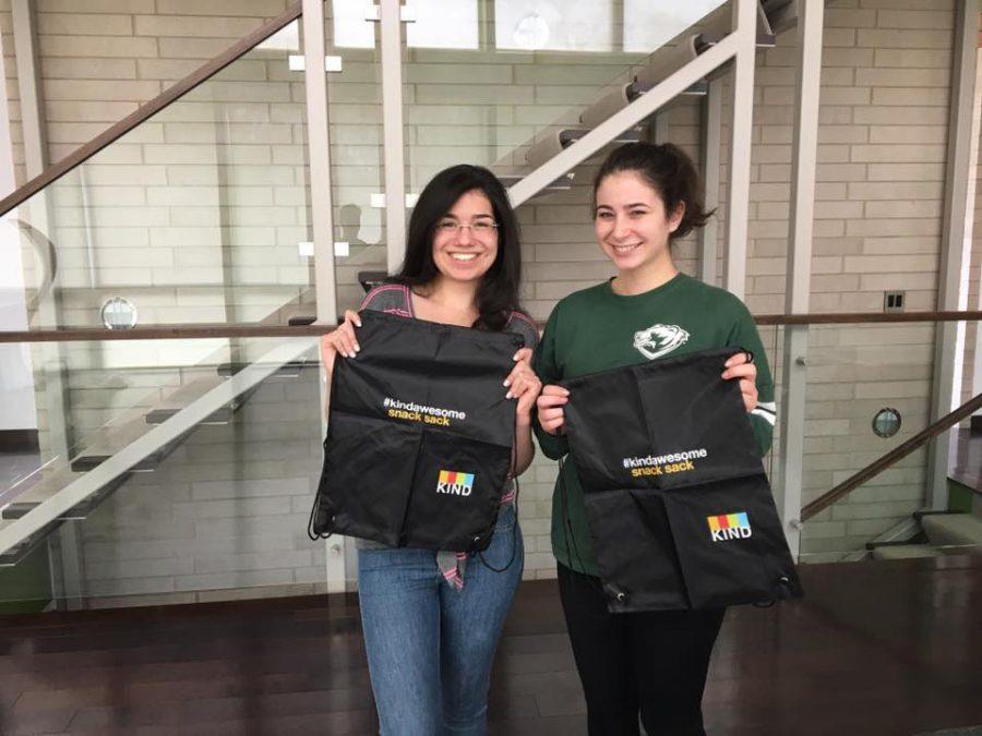 University students Zoe Engels, at left, and Elana Greenberg started the non-profit organization Write the Future.