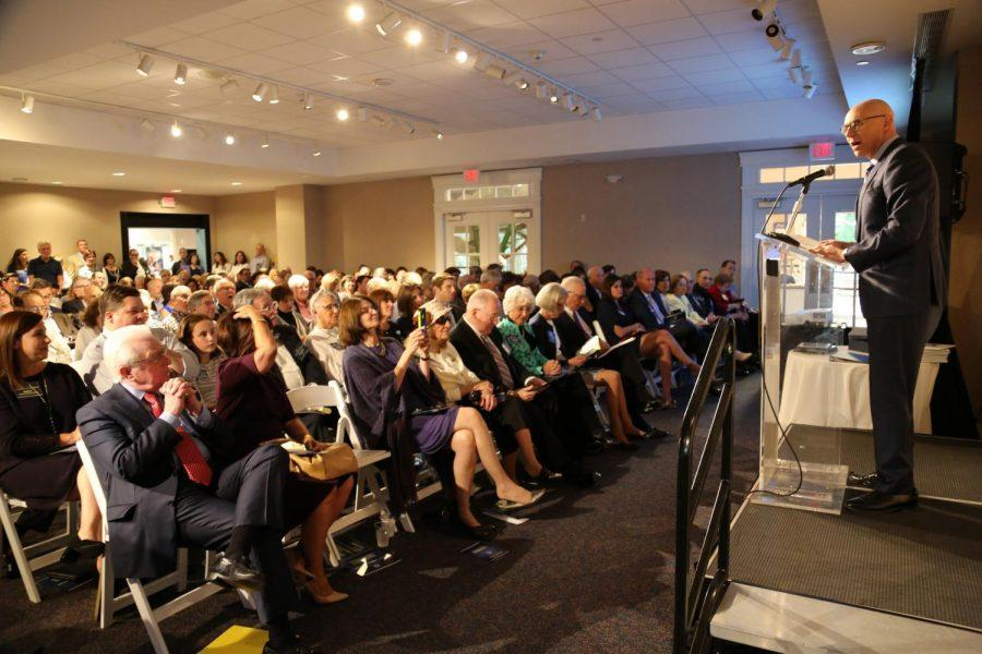 Above%2C+Jewish+Federation+President+and+CEO+Andrew+Rehfeld+addresses+the+audience+at+the+116th+Annual+Meeting+on+Sept.+7+at+the+Magic+House+in+Kirkwood.+Photo%3A+Bill+Motchan