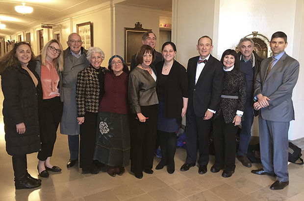 Earlier+this+month%2C+a+group+of+Jewish+community+members+%28and+some+Christian+allies%29+traveled+to+Jefferson+City+to+lobby+on+behalf+of+anti-BDS+legislation+in+the+Missouri+Legislature+%28SB+849+and+HB+2179%29.+The+group+attended+to+show+their+support+of+the+bill+during+the+Senate+floor+debate.+Some+of+the+people+attending+were+%28from+left%29+AJC-St.+Louis+Director+Nancy+Lisker%2C+JCRC+Senior+Policy+Associate+Gavriela+Geller%2C+past+JCRC+Board+President+Harvey+Schneider%2C+JCRC+Policy+Chair+Arlene+Stiffman%2C+Chayaraizel+Flaks%2C+State+Sen.+Jill+Schupp+%28a+co-sponsor+of+the+bill%29%2C+Ron+Fredman%2C+JCRC+Executive+Director+Maharat+Rori+Picker+Neiss%2C+JCRC+Board+Member+Paul+Kravitz%2C+Fran+Kravitz%2C+Michael+Ginsburg+and+lobbyist+David+Winton.%C2%A0