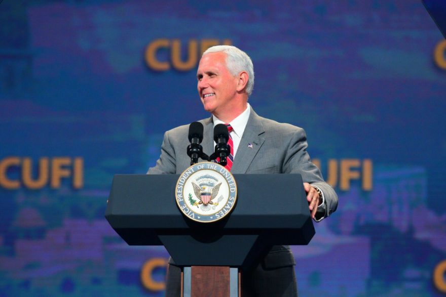 Vice+President+Mike+Pence+speaking+at+the+Christians+United+for+Israel+conference+in+Washington+D.C.%2C+July+2017.+%28CUFI%29