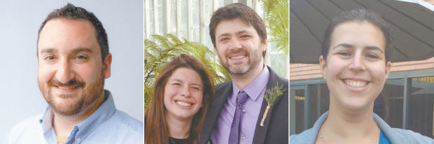 New rabbis who will be joining local Reform congregations are Adam Bellows, Karen and Daniel Bogard and Lori Levine.