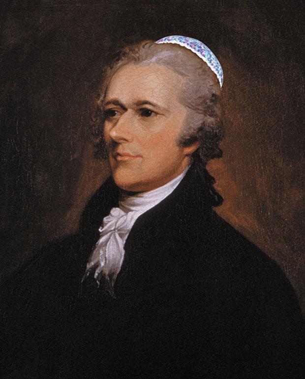 Alexander Hamilton portrait by John Trumbull 1806, with just a slight embellishment.Original photo: Wikimedia Commons. Photo Illustration: Martin holloway