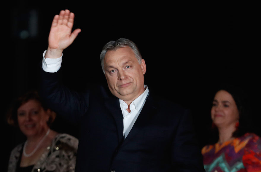Hungarian+Prime+Minister+Viktor+Orban+addressing+supporters+in+Budapest+after+winning+another+term+in+a+parliamentary+election%2C+April+8%2C+2018.+%28Laszlo+Balogh%2FGetty+Images%29