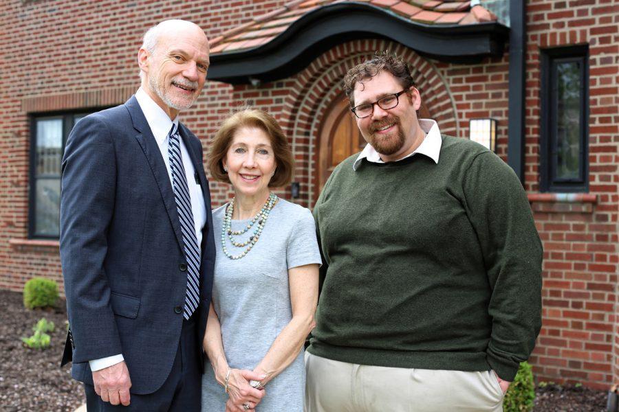 Silk Foundation Trustees Dr. Richard Kofkoff and Dr. Susan Godwin-Kofkoff are shown with Rabbi Jordan Gerson. Gerson is The Silk Foundation Campus Rabbi at Hillel at Washington University in St. Louis.