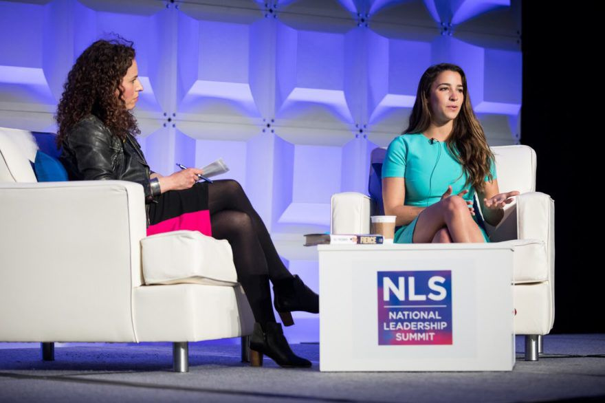 Gymnast+Aly+Raisman+speaks+with+journalist+Sarah+Wildman+at+the+ADL+national+conference+in+Washington%2C+D.C.+on+May+6%2C+2018.+%28Courtesy+ADL%29