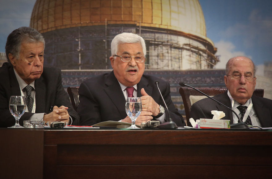 Palestinian+Authority+President+Mahmoud+Abbas+addresses+the+Palestinian+National+Council+in+the+West+Bank+city+of+Ramallah%2C+April+30%2C+2018.+%28Flash90%29