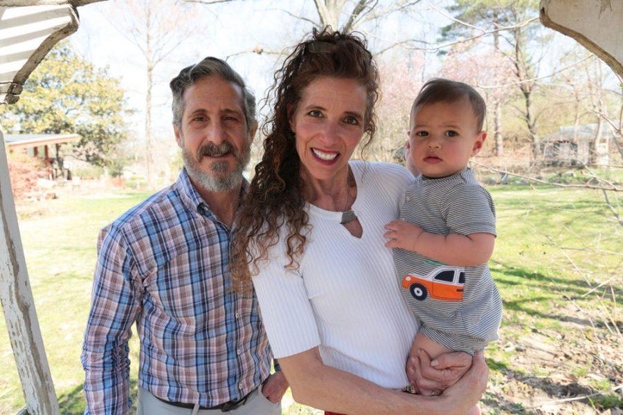 Steve and Maxine Mirowitz with their grandson Ethan. Photo: Bill Motchan