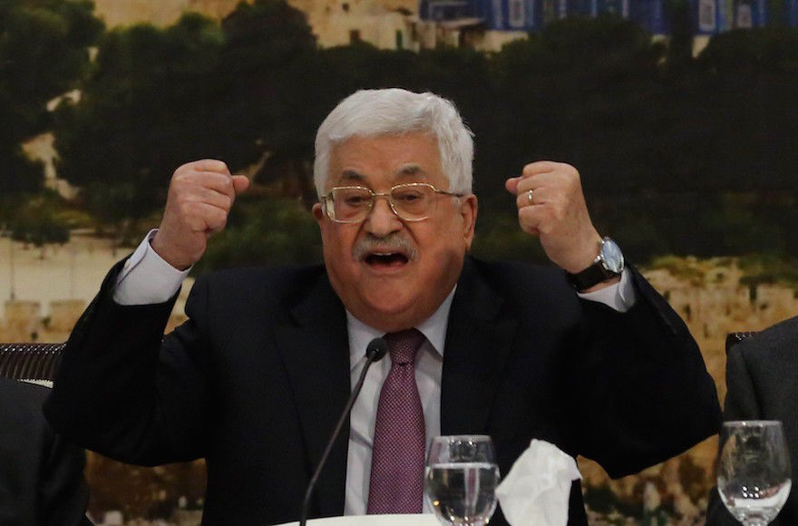 Palestinian+Authority+President+Mahmoud+Abbas+speaking+at+a+session+of+the+Palestinian+Central+Council+in+Ramallah%2C+in+the+West+Bank%2C+Jan.+14%2C+2018.+%28Issam+Rimawi%2FAnadolu+Agency%2FGetty+Images%29