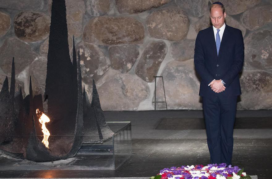 Prince+William+laying+a+wreath+during+a+ceremony+at+the+Hall+of+Remembrance+in+the+Yad+Vashem+Holocaust+memorial+in+Jerusalem%2C+June+26%2C+2018.+%28Yonatan+Sindel%2FFlash90%29