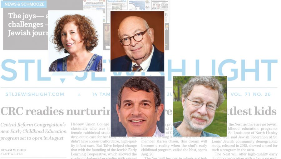 From+top+left%3A%C2%A0Jewish+Light+Editor+Ellen+Futterman%2C+Editor-in-Chief+Emeritus+Robert+A.+Cohn%2C+%C2%A0columnist+Eric+Mink+and%C2%A0editorial+writer+Dale+Singer+recently+received+Rockower+awards+from+the+American+Jewish+Press+Association.