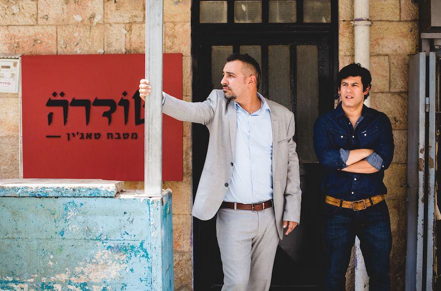 "Hanan Savyon, left, and Guy Amir star in ""Maktub."" (Idan Milman)"