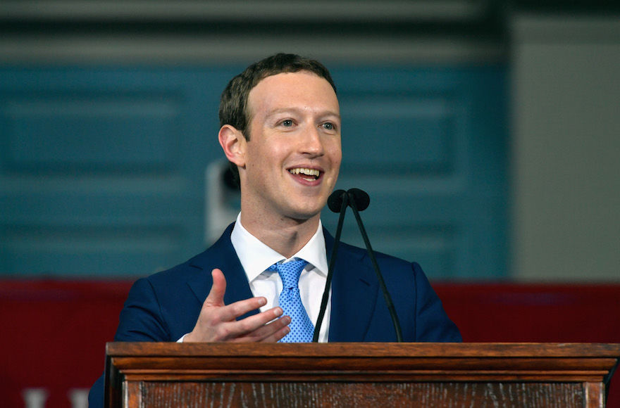 Mark+Zuckerberg+delivering+a+commencement+speech+at+Harvard+University%2C+in+Cambridge%2C+Mass.%2C+May+25%2C+2017.+He+quoted+the+%E2%80%9CMi+Shebeirach%E2%80%9D+prayer+in+his+speech.+%28Paul+Marotta%2FGetty+Images%29