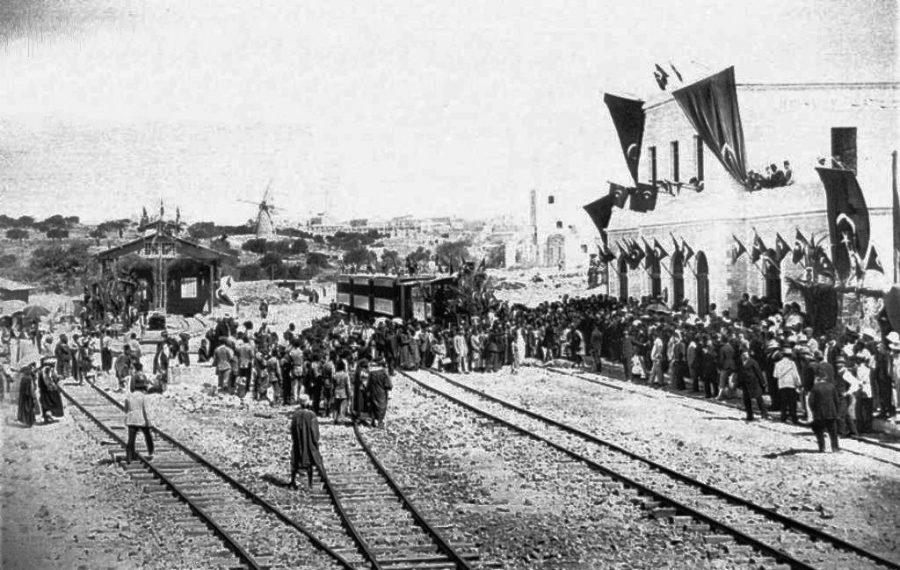 The+first+train+from+Jaffa+arrives+in+Jerusalem+on+Aug.+27%2C+1892.
