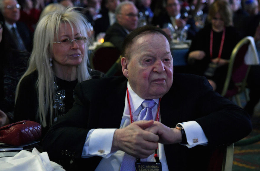 Sheldon+Adelson+with+his+wife+Miriam+at+the+Republican+Jewish+Coalition%E2%80%99s+annual+leadership+meeting+at+The+Venetian+Las+Vegas%2C+Feb.+24%2C+2017.+%28Ethan+Miller%2FGetty+Images%29