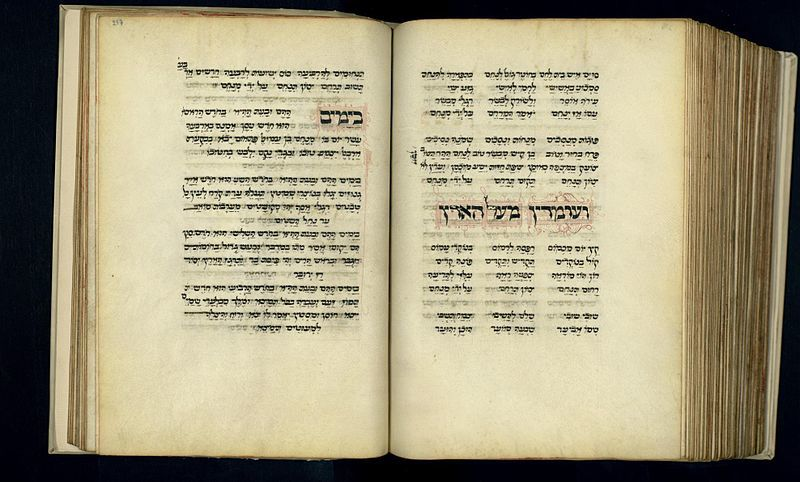 The+pages+of+the+Machzor+Roma+on+display+at+the+National+Library+of+Israel.%C2%A0Photo%C2%A0+Wikimedia+Commons