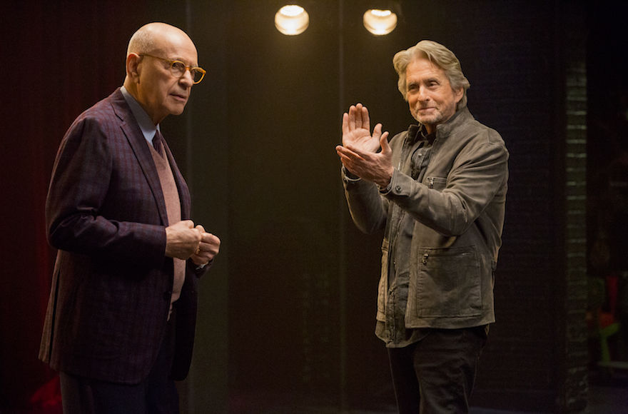 "Alan Arkin, left, and Michael Douglas star in ""The Kominsky Method,"" the latest from ""Big Bang Theory"" creator Chuck Lorre. (Mike Yarish/Netflix)"