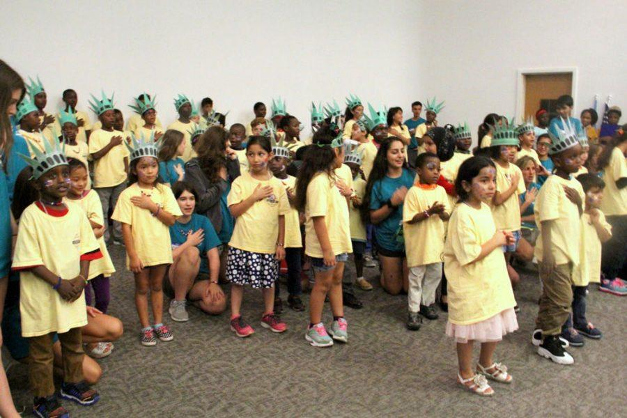 Campers at the Jewish Coalition for New Americans (JCNA) summer camp in August.