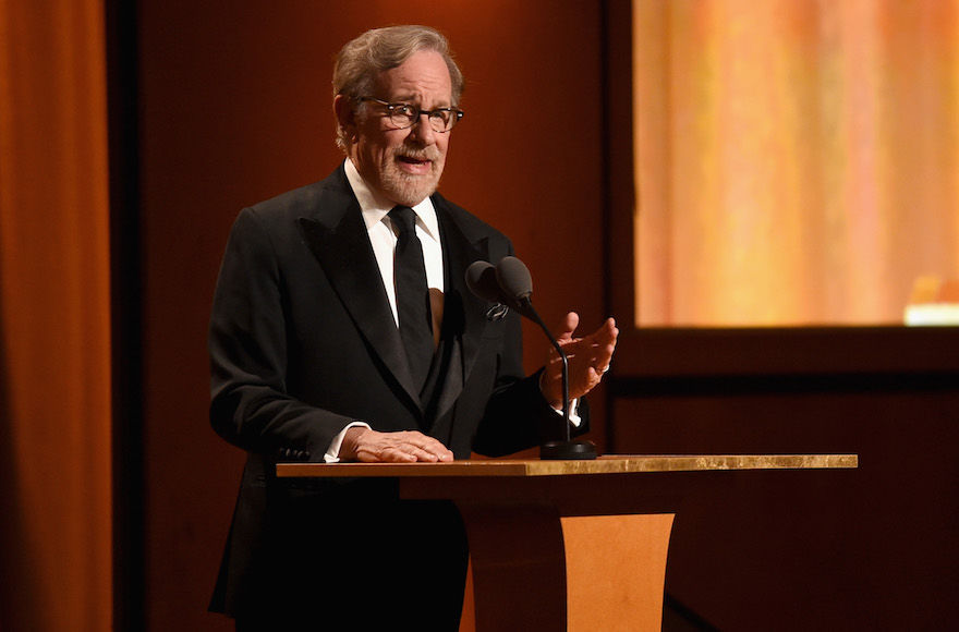 Steven Spielberg speaks onstage during the Academy of Motion Picture Arts and Sciences' 10th annual Governors Awards at The Ray Dolby Ballroom in Hollywood, Calif., Nov. 18, 2018. (Kevin Winter/Getty Images)