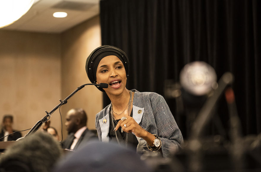 Ilhan Omar speaks at an election night results party in Minneapolis, Nov. 6, 2018. Photo: Stephen Maturen/Getty Images