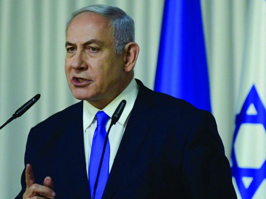Israeli Prime Minister Benjamin Netanyahu speaks to the media in Ramat Gan, Israel on Feb. 21.Photo: Tomer Neuberg/Flash90