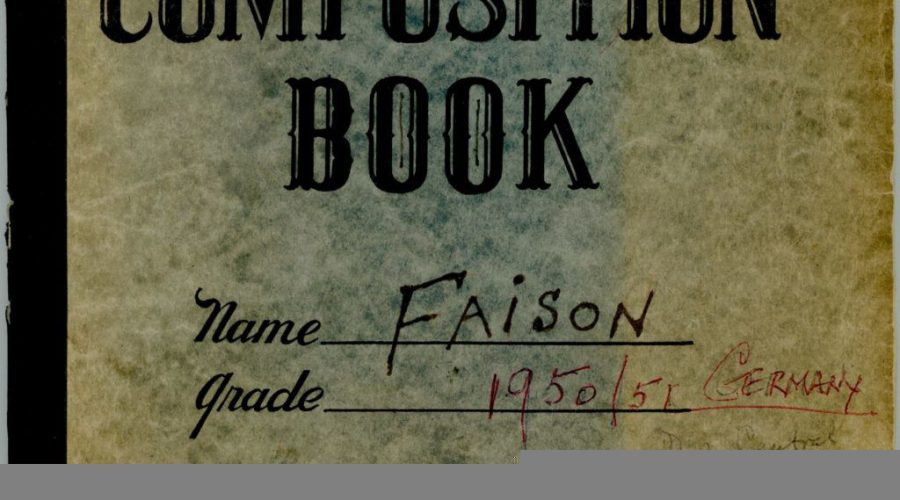 World War II Diary of S. Lane Faison, Jr. Image courtesy of Monuments Men Foundation for the Preservation of Art