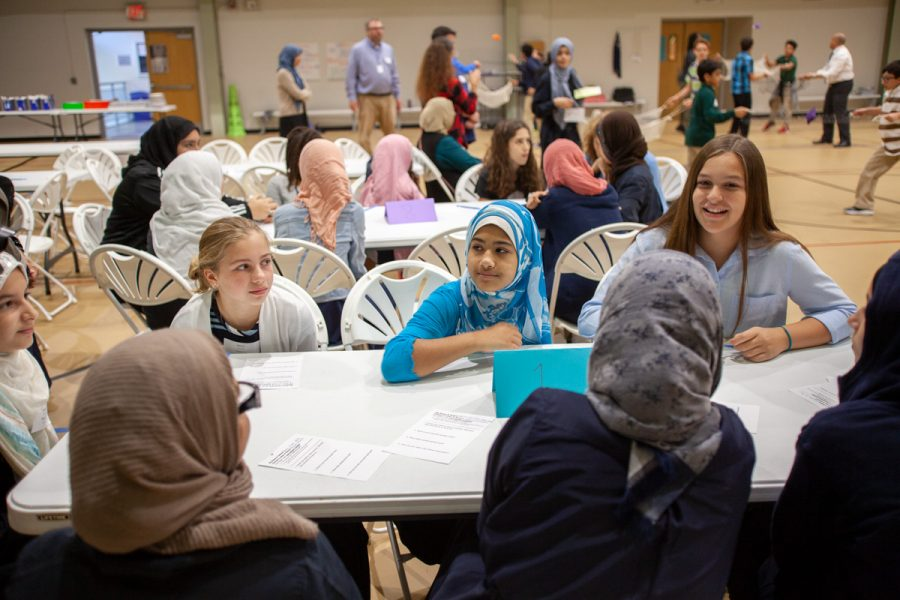 Students from Saul Mirowitz Jewish Community School and Al-Salam Day School meet four times a year as part of Operation Cooperation Middle School. Photos: Mike Sherwin