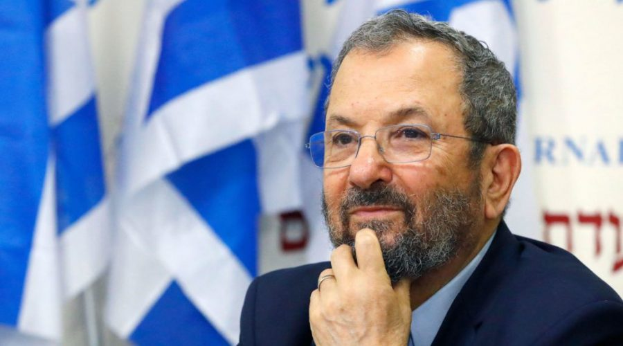 Former+Israeli+prime+minister+Ehud+Barak+looks+on+during+a+press+conference+in+Tel+Aviv%2C+June+26%2C+2019.+%28Jack+Guez%2FAFP%2FGetty+Images%29%C2%A0