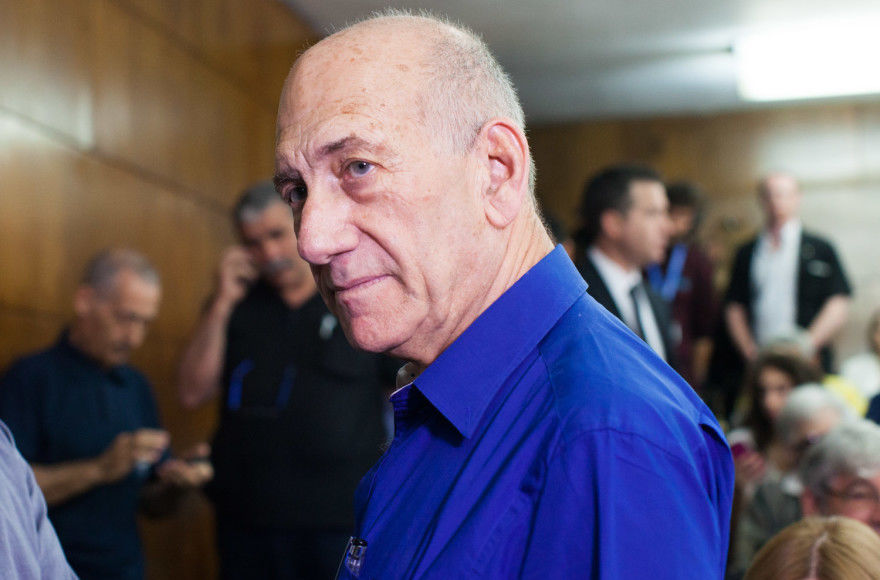 Former+Israeli+Prime+Minister+Ehud+Olmert%2C+shown+in+2014%2C+was+told+his+detention+in+Switzerland+would+cause+great+embarrassment+to+Israel.+Photo%3A+Yotam+Ronen%2FFlash90