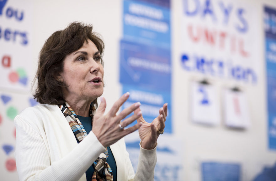 Sen.+Jacky+Rosen+of+Nevada%2C+seen+in+2016%2C+is+one+of+the+lead+sponsors+of+the+bill+to+fund+Holocaust+education+programs+in+schools.+%28Bill+Clark%2FCQ+Roll+Call%2FGetty+Images%29%C2%A0