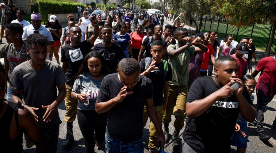 Ethiopian-Israelis+protest+on+July+1%2C+2019+following+the+death+of+19-year-old+Solomon+Tekah%2C+who+was+shot+the+previous+day+by+an+off-duty+police+officer+in+a+Haifa+suburb.+%28Meir+Vaknin%2FFlash90%29%C2%A0