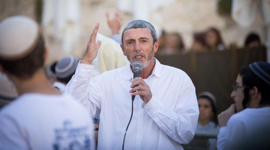 Education+minister+Rafi+Peretz+speaks+during+Rosh+Hodesh+prayers+at+the+Western+Wall+in+Jerusalem+Old+City%2C+July+4%2C+2019.+Photo+by+Yonatan+Sindel%2FFlash90
