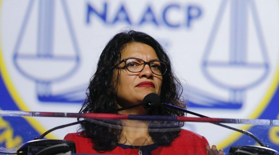 Rep.+Rashida+Tlaib+speaks+at+the+NAACP+convention+in+Detroit%2C+July+22%2C+2019.+%28Bill+Pugliano%2FGetty+Images%29%C2%A0