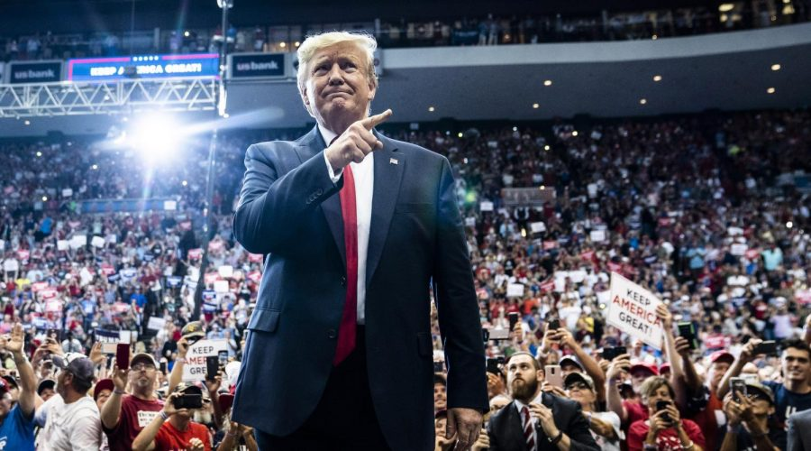 President+Donald+Trump+at+a+rally+at+U.S.+Bank+Arena+in+Cincinnati%2C+Ohio%2C+Aug.+1%2C+2019.+%28Jabin+Botsford%2FThe+Washington+Post+via+Getty+Images%29