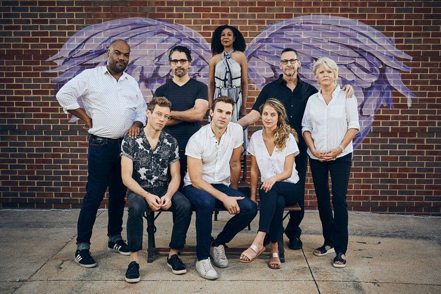 The cast of 'Angels in America' at The Rep Sept. 4-Oct. 6. Photo: Peter Wochniak