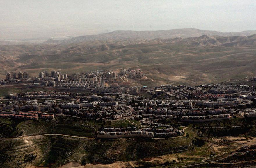 An+aerial+view+of+Israel%27s+largest+settlement%2C+Maale+Adumim%2C+March+12%2C+2008.+%28David+Silverman%2FGetty+Images%29