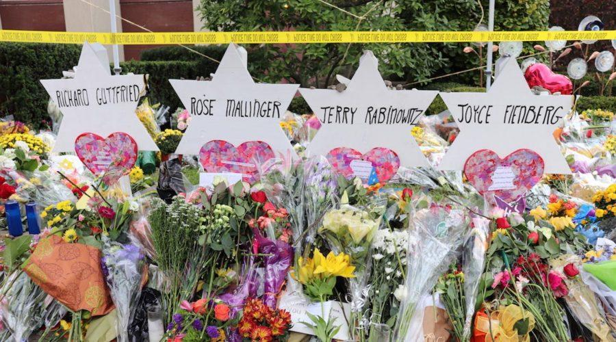 A+memorial+for+the+victims+of+the+Tree+of+Life+synagogue+shooting+in+Pittsburgh.+%28Hane+Grace+Yagel%29%C2%A0