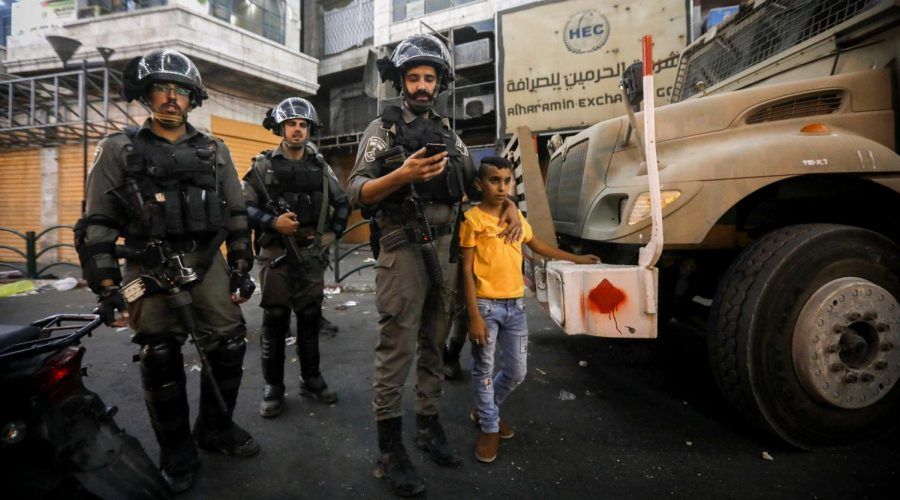 Israeli+border+police+officers+arrest+a+Palestinian+youth+during+clashes+with+Palestinian+protesters+in+the+West+Bank+city+of+Hebron%2C+Aug.+11%2C+2019.+Reps+Rashida+Tlaib+and+Ilhan+Omar+were+scheduled+to+visit+Hebron+and+other+parts+of+the+West+Bank.+%28Wisam+Hashlamoun%2FFlash90%29