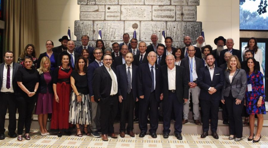 Jewish+thought+leaders+and+activists+from+around+the+world+present+the+Declaration+of+Our+Common+Destiny+to+Israeli+President+Reuven+Rivlin%2C+Sept.+10%2C+2019.+%28Avishag+Shaar-Yashuv%29