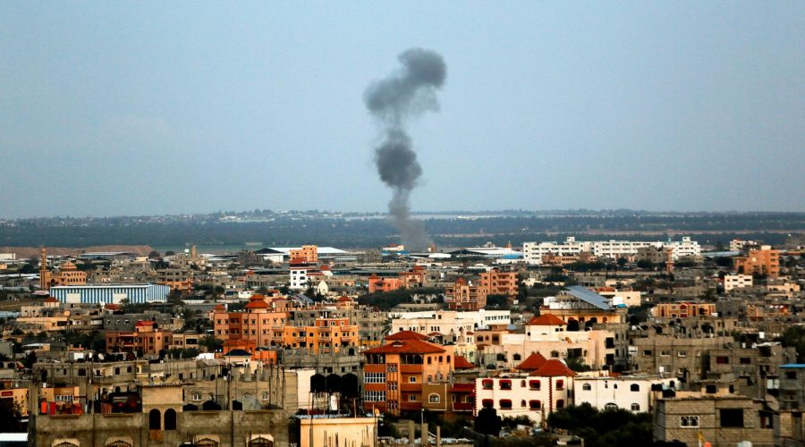 Smoke+rises+following+an+Israeli+air+strike+in+Rafah%2C+in+the+southern+Gaza+Strip%2C+March+25%2C+2019.+%28Abed+Rahim+Khatib%2FFlash90%29